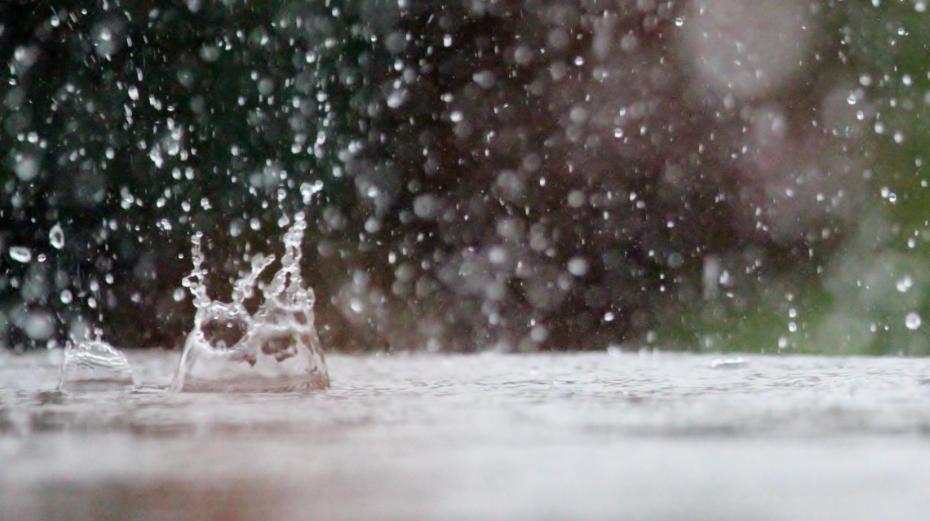 Regen kann in einem Flachtank gesammelt werden